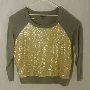 A.N.A Sequin front Sweater